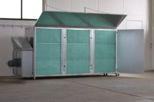Q-Bic 300-150 mit oberen und seitlichen Luftleitblechen