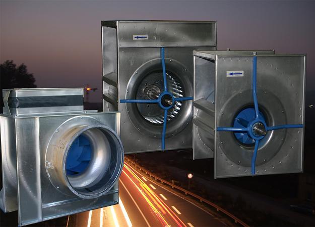 Ventilatoren zur Verwendung in Zuluft- und Fortluftsystemen für Farbnebelabsauganlagen
